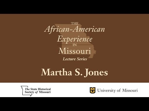 African American Experience Lecture Series - Martha S. Jones