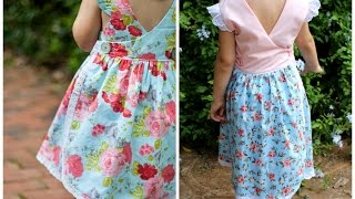 COSTURA DO VESTIDO INFANTIL COM TRANSPASSE NAS COSTAS