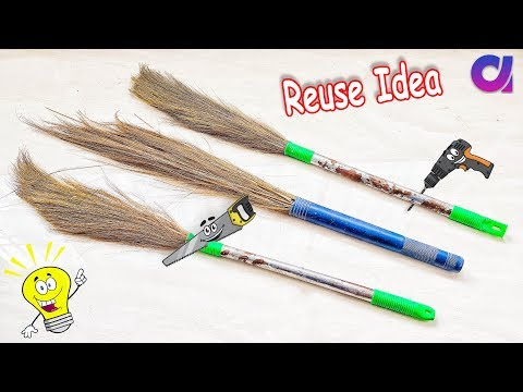 Best out of waste Broom craft idea | diy art and craft | Artkala 413