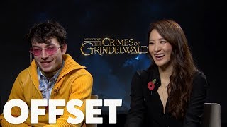 Download Video Ezra Miller and Claudia Kim reveal their hybrid Hogwarts houses MP3 3GP MP4