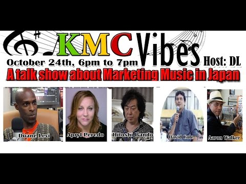 KMC Vibes Radio talk show - music production and marketing music in Japan.