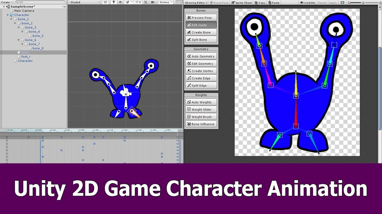 Unity 2d Game Character Animation Tutorial