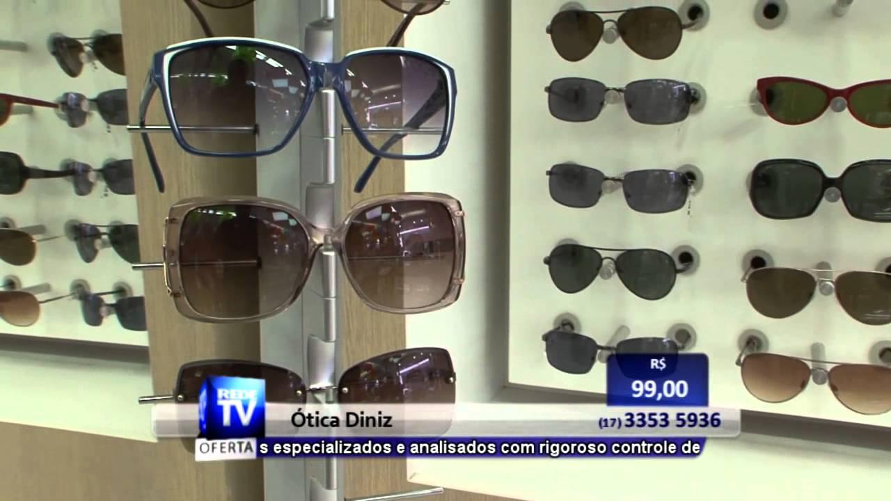 4d2da61ea8e83 ÓCULOS DE SOL EM RIO PRETO - ÓTICAS DINIZ - S10 - YouTube