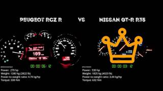 Peugeot RCZ R vs. Nissan GT-R R35 - the 0-100 km/h duel. Which one ...