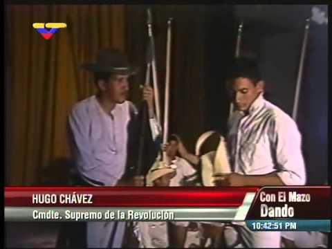 Hugo Chávez en 1985-86 interpreta a Páez en una obra de teatro en Academia Militar