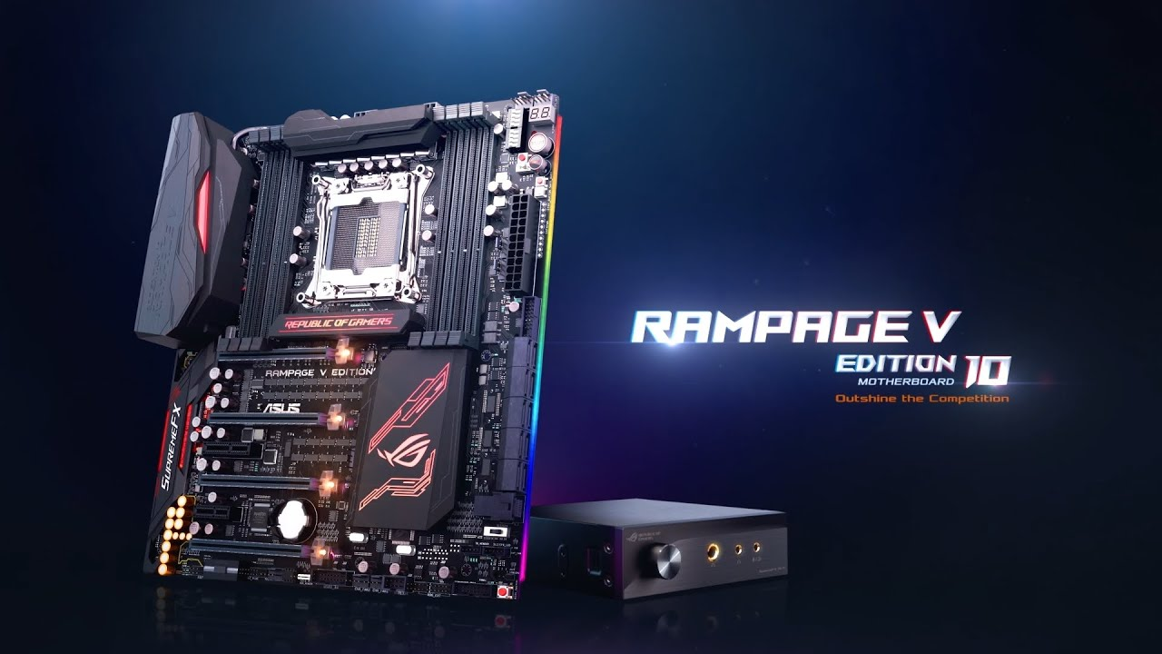Wallpaper republic of gamers youtube - Rog Rampage V Edition 10 Youtube