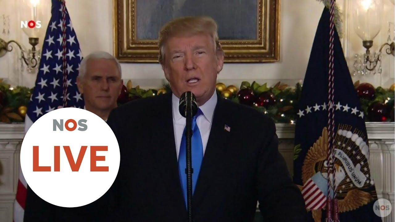 LIVE: Persconferentie Trump Over Erkennen Jeruzalem Als