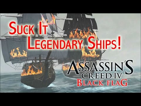 AC4 : Black Flag - Glitch to defeat La Dama Negra, Royal Sovereign, and HMS Fearless legendary ships
