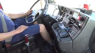 Scania T143 500 im Cockpit Teil 3 Scania 143 V8
