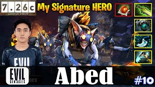 Abed - Meepo MID | My Signature HERO | 7.26c Update Patch | Dota 2 Pro MMR Gameplay #10