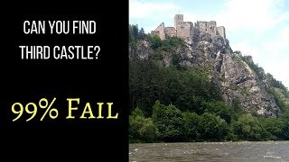 3 Medieval Castles 🏰    Barge Cruise ⛴   River Vah (Slovakia)