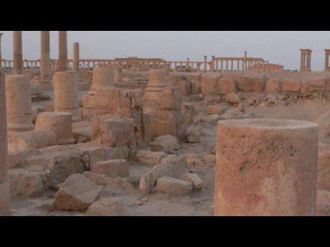 Palmyra (Tadmor تدمر  in Syria) at sunset and sunrise