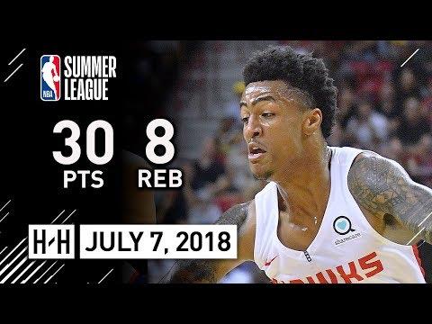 John Collins Full Highlights vs Knicks (2018.07.07) Summer League - 30 Pts, 8 Reb