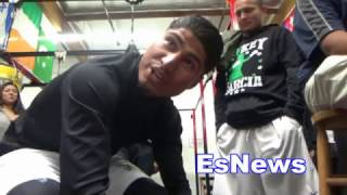Mikey Garcia On Floyd Mayweather Saying Thurman Is Ducking Spence EsNews Boxing