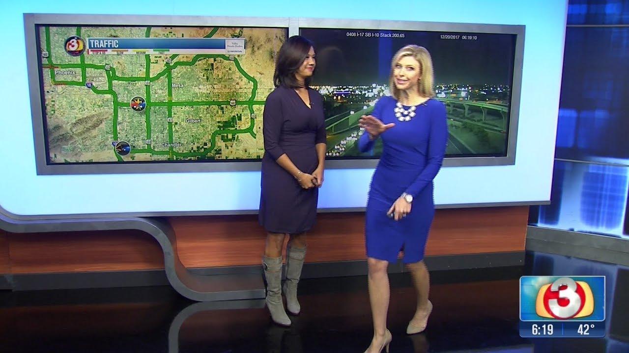 AZ News Traffic Reporter in boots - 20-Dec-2017 - YouTube