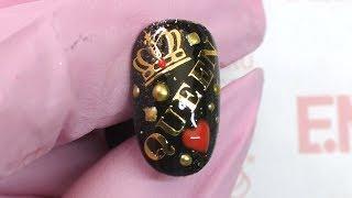 Дизайн ногтей для королевы! Пошаговый мастер-класс