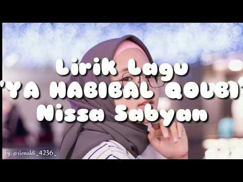"""lirik-lagu-""""ya-habibal-qolbi""""-nissa-sabyan"""