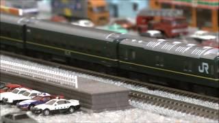 Nゲージ 寝台列車 トワイライトエクスプレス 駅停車 EF210 桃太郎  チキ5500  駅通過