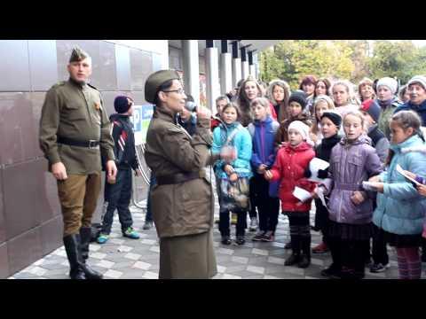 Полсотни человек спели в центре Петрозаводска песню Катюша