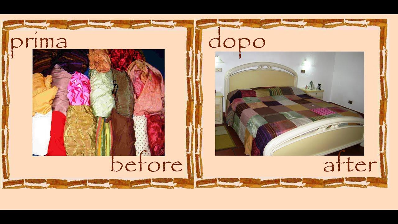 Copripiumino Patchwork.Riciclo Creativo Vecchi Vestiti Copriletto Sacco Copripiumino