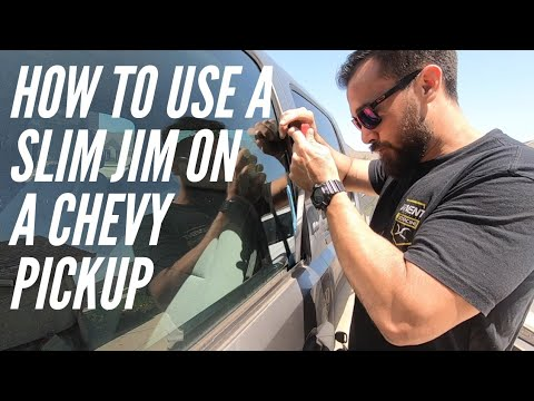 How To Use A Slim Jim On A Chevy Silverado Unlock A Car Door Youtube