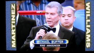 WBC世界ミドル級タイトルマッチ② マイケル・バッファーのリングアナウンス