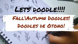 Doodles: Como hacer Doodles de Otoño con Tombow   How to draw Fall Doodles with Tombow   Shantalart