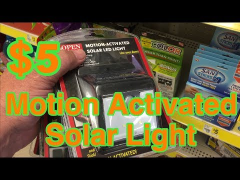 Found The $5 Motion Sensor Solar Light at Dollar General!  - Caravan Carolyn Shoutout!