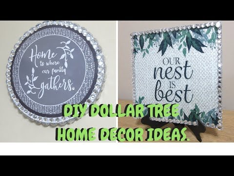 QUICK AND EASY DIY DOLLAR TREE HOME DECOR IDEAS