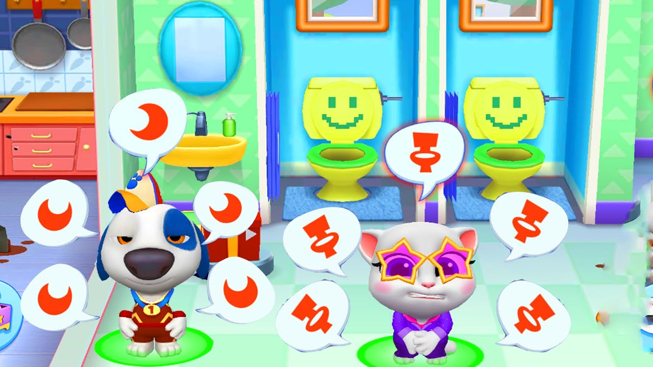 🚽 Toilet Drama in My Talking Tom Friends  (NEW GAME)