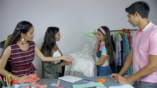 Group of students engaged in a fashion studies workshop from a successful designer