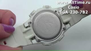 Обзор. Японские наручные часы Casio BGA-230-7B2 с хронографом