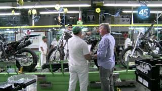 Artur na fábrica da Moto Honda
