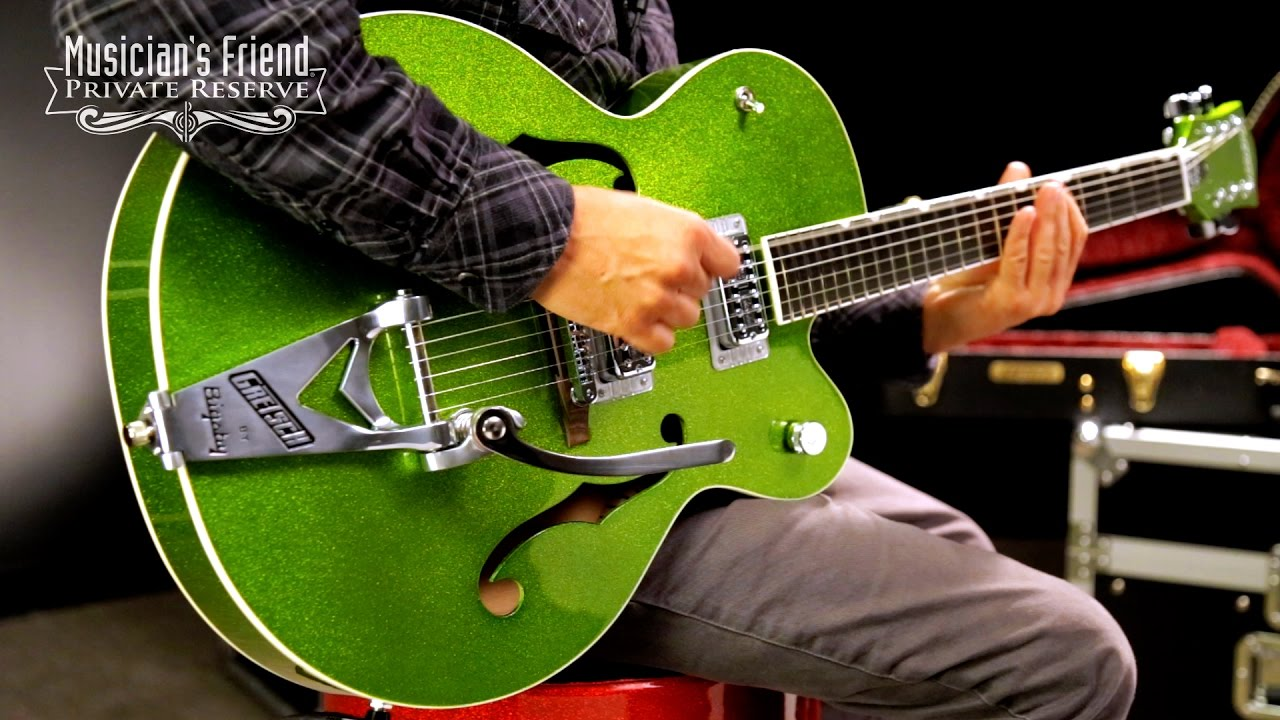 gretsch guitars g6120sh brian setzer hot rod semi hollow electric guitar youtube. Black Bedroom Furniture Sets. Home Design Ideas