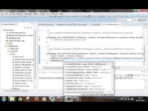 Create Java client for RESTful web service