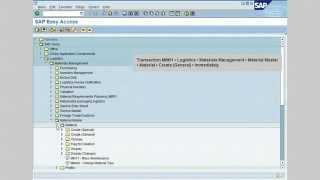 Wie das Anlegen eines Materialstammsatzes im SAP-MM