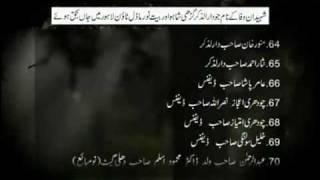 List of 94 Martyrs of Lahore Terrorist Attack on Ahmadiyya Muslim Mosques