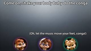The Chipettes - We No Speak Americano / Conga (with lyrics)
