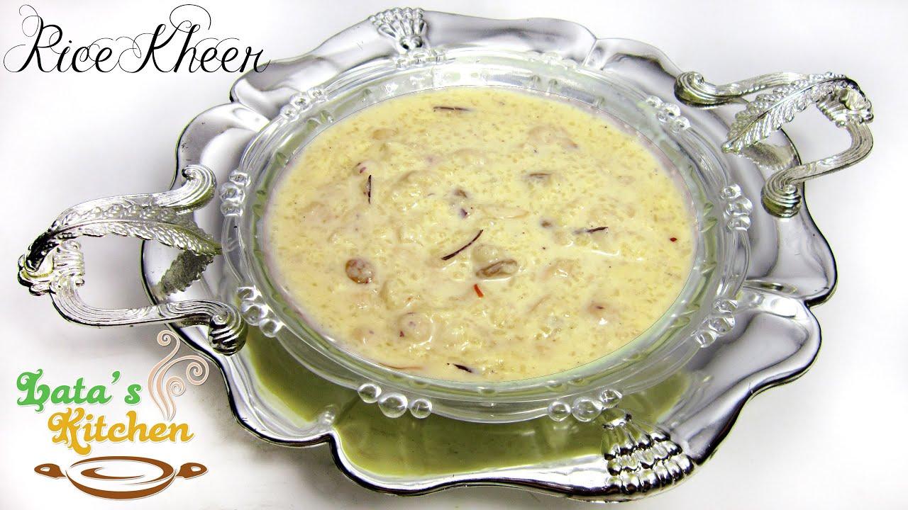 Kheer recipe rice kheer recipe indian pudding recipe video in kheer recipe rice kheer recipe indian pudding recipe video in hindi latas kitchen youtube ccuart Gallery