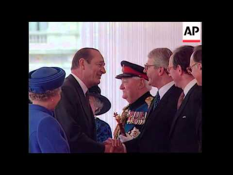 UK: LONDON: FRENCH PRESIDENT JACQUES CHIRAC VISIT