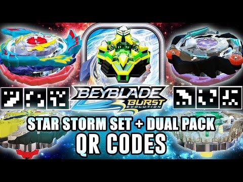 SATOMB & MORE! - STAR STORM SET QR CODES + X2Y2 DUAL PACK BEYBLADE BURST APP