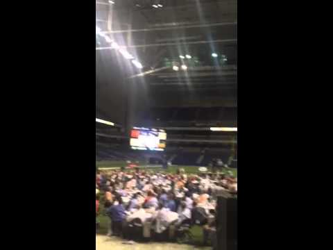 Brock Huard Shows Off His Arm at the 2013 Alamo Bowl Pigskin Preview Luncheon