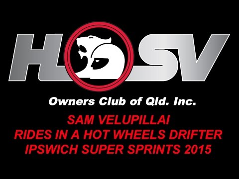 HSVOC Member Sam Velupillai in a Hot Wheels Drift Car