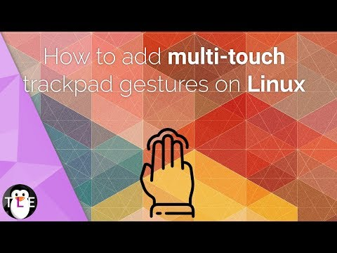 How to add MULTITOUCH trackpad gestures to Linux - YouTube