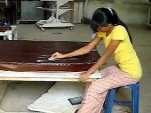 Mahogany furniture polishing a high end mahogany dining table