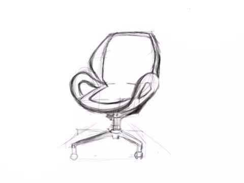 Chair Sketch sketch office chair - youtube