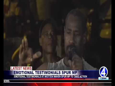EMOTIONAL TESTIMONIALS AT WOTTEN WAVEN SPUR MP TO TAKE ACTION