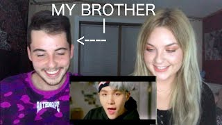MY BROTHER REACTS TO BTS MIC DROP!!