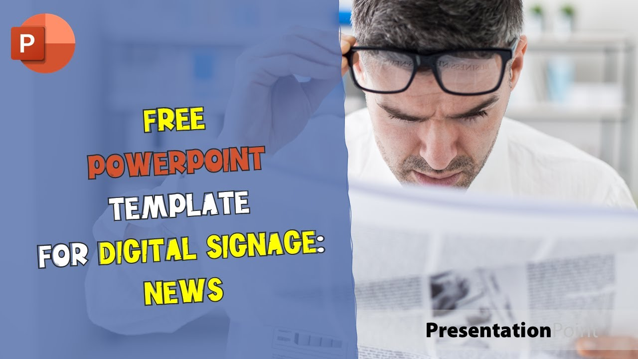 Free powerpoint template for digital signage news youtube toneelgroepblik Image collections