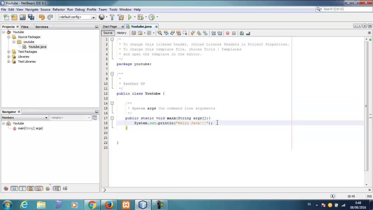 Tutorial Java untuk Pemula (Bahasa Indonesia) - 4 Hello